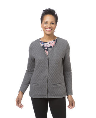 Women's light grey quilted jacket