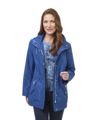 Women's blue anorak windbreaker jacket