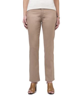 Women's beige straight leg jeans