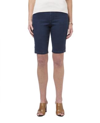 Women's pull-on denim Bermuda shorts