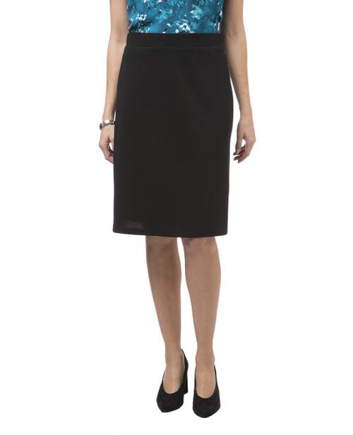 Women's black knee length skirt