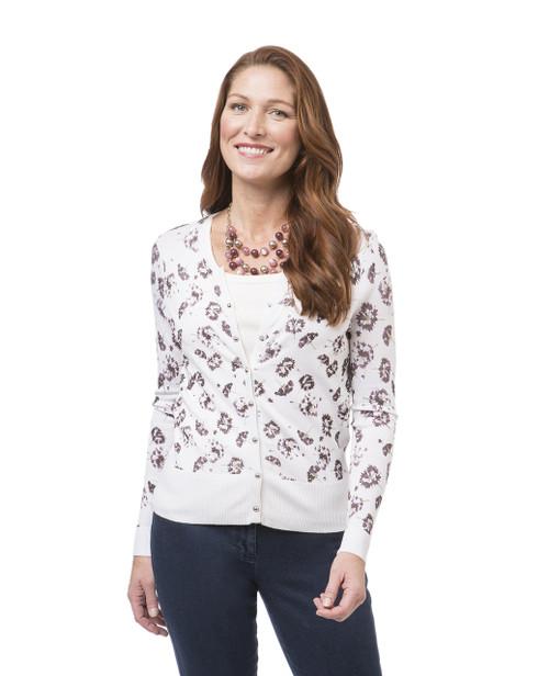 Women's white button down cardigan