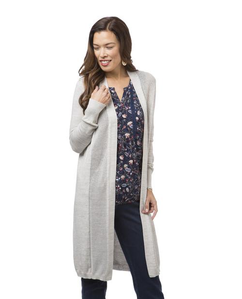 Women's grey long cardigan