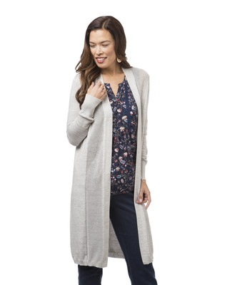 Women's grey long cardigan