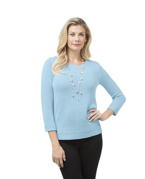 Women's Fancy Yoke Pullover Sweater