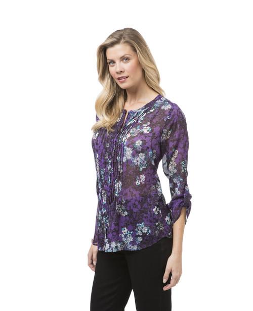 Women's floral button down shirt