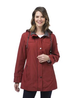Women's jacket with detachable hood