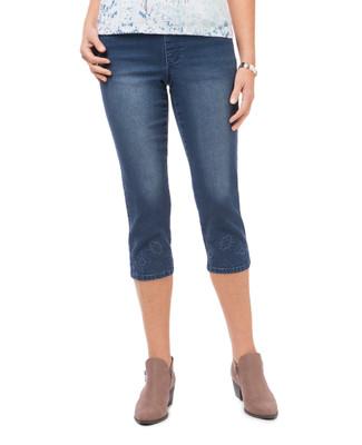 Women's denim cropped pant