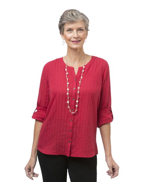 Women's long sleeve button down shirt