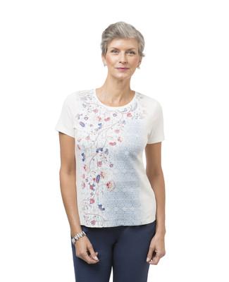 Women's short sleeve paisley tee