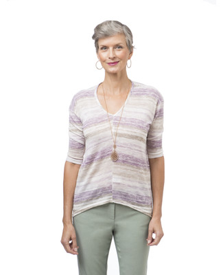 Women's purple V-neck top