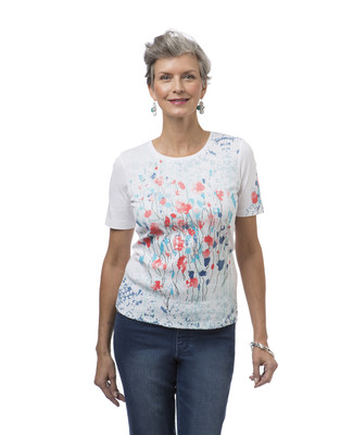 Women's short sleeve floral print tee