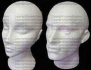 Styrofoam head x1 male x1 female set