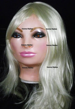 Realistic female rubber display mask ANNA Bubblegum
