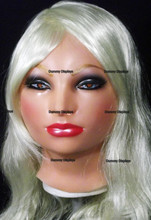 Realistic female rubber display mask ANNA Red Rouge