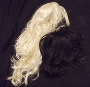 Bulk ex display wigs blonde and black