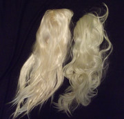 Bulk ex display wigs blonde straight + wavey