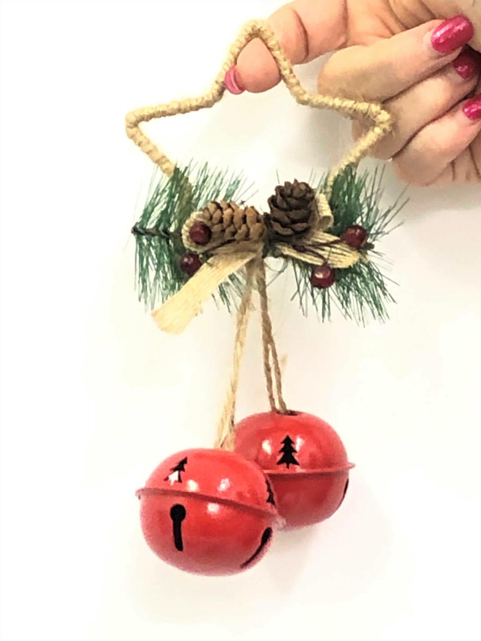 Christmas Bells.Double Round Christmas Bells Star 18cm