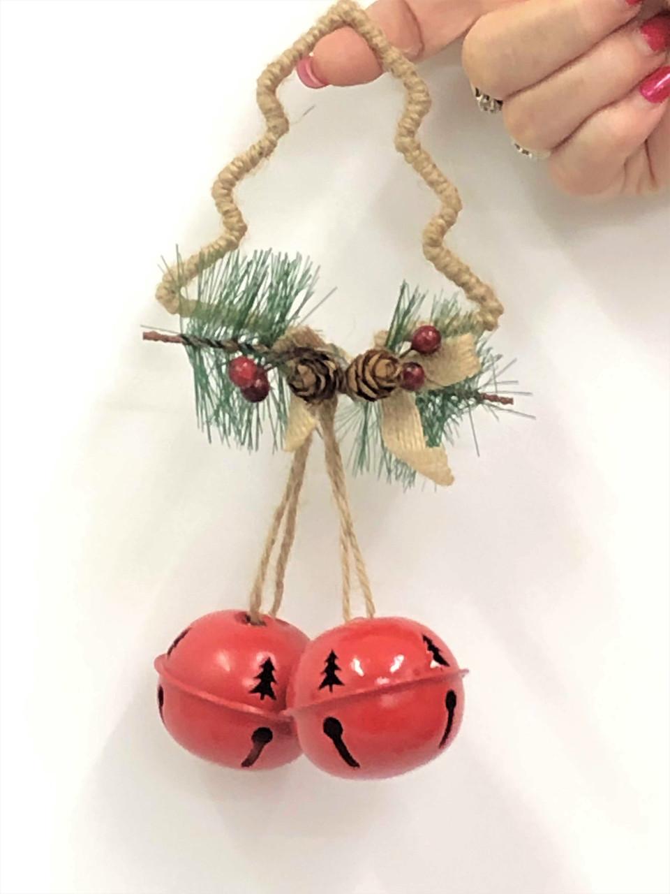 Christmas Bells.Double Round Christmas Bells Tree 18cm