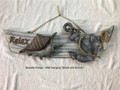 Seaside Range - Ship Wall Hanger with Anchor and Shell