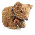 Beautifully Designed and Hand Made Bristlestraw Wombat - Dark Colour - 17cm