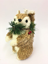 Beautifully Designed and Hand Made Christmas Squirrel With Christmas Wreath - 22cm