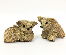 Beautifully Designed and Hand Made Koala Pair, one Lying and one Standing (Set of 2) with hangers 11cm each