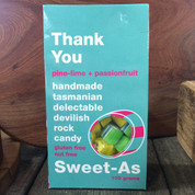 Sweet-As Rock Candy 100gm - Thank You (pine-lime & passionfruit)