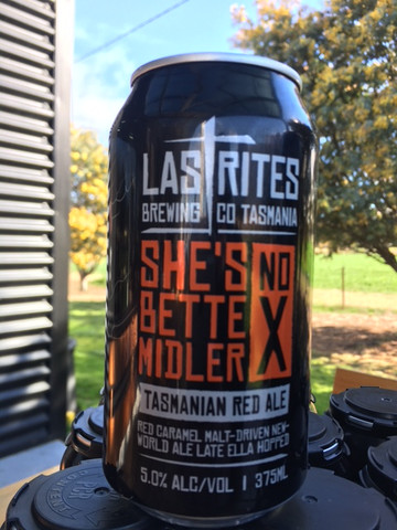 """she's No Bette Midler""  Tasmanian Red Ale"