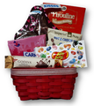 Delight your special Valentine with this medley of decadent chocolates, snacks, cookies, and candy!