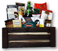 This basket has a large assortment of gourmet foods such as cheese, crackers, smoked salmon, smoked oysters, condiments, olives, nuts, tea, coffee, chocolate, truffles, cookies, candy and so much more.  Sure to impress busy professionals or friends and family.