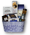 Celebrate Mother's Day with this selection of gourmet foods: imported cheese, crackers, jelly condiment, smoked oysters, olives, nuts and chocolate.  You'll be Mom's favourite for sure!