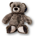 Add a soft, cuddly plush brown bear to any baby or get well basket.