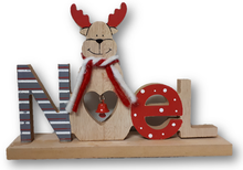 Personalize your gift with this wooden NOEL decoration.