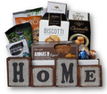 Spell out the comforts of home with these decorative blocks.  Whether it's their first home or their third, this arrangement of tea, coffee, cookies and chocolates will make a great keepsake in their new home.