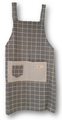 plain patterned apron with pocket