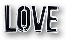 Show the love with this metal sign. Great for wedding or engagement baskets.
