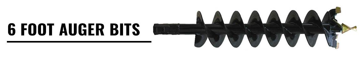 6 Foot Earth Auger Bits for Skid Steer Loaders
