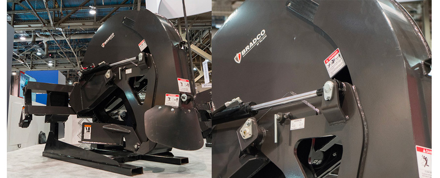 Bradco Rock Saw Attachment for Skid Steer Loaders