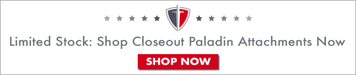 Buy Paladin and Bradco attachments online at closeout prices