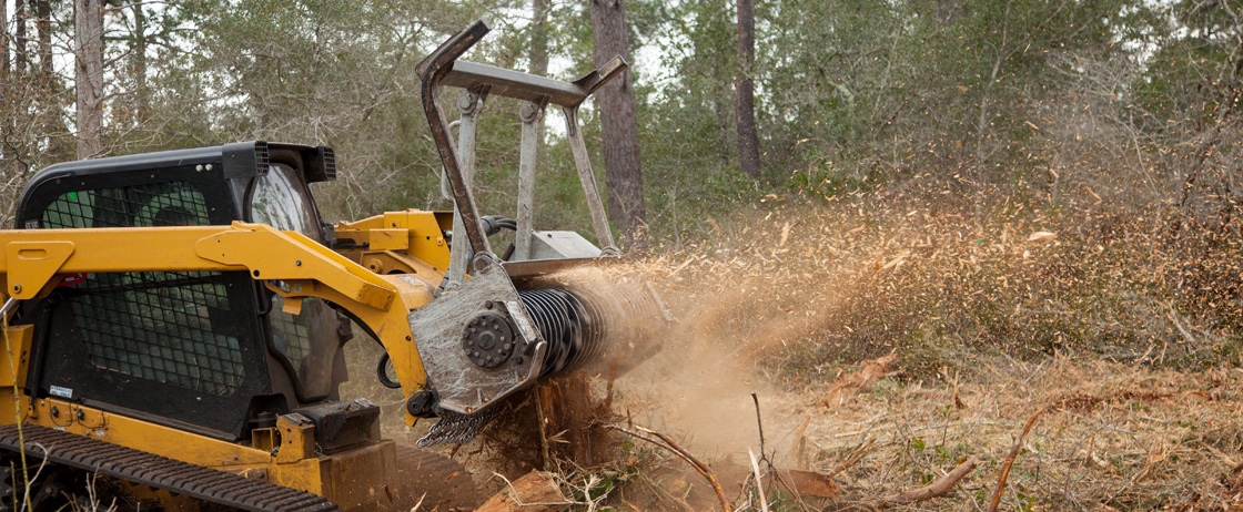 High-powered and efficient Skid Steer Forestry Mulcher Attachments from Denis Cimaf available online.