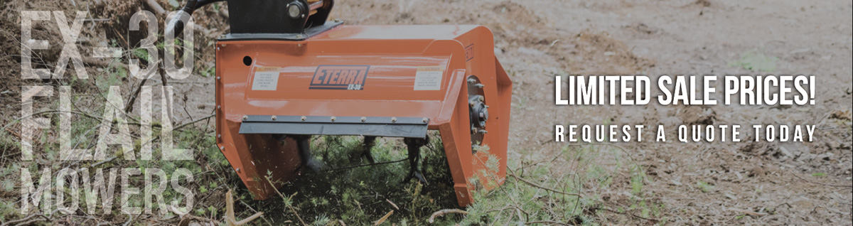 Special pricing now available on the EX-30 Excavator Flail Mower Attachment