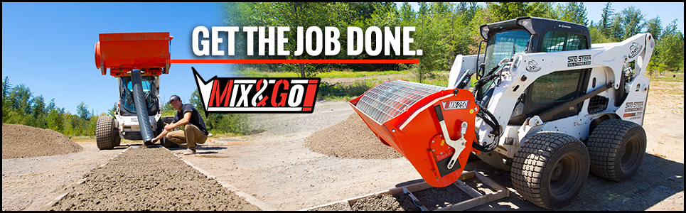 Eterra Mix and Go Cement Mixing Attachment System for Skid Steer and Compact Track Loaders