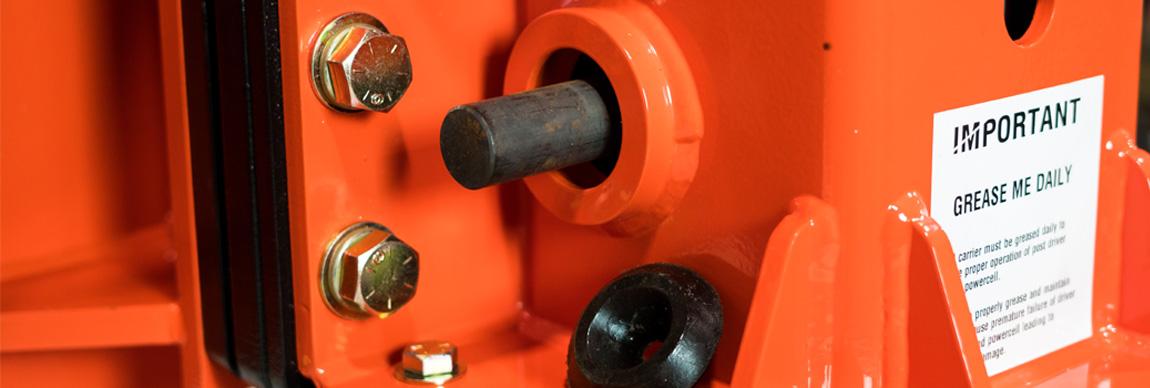 Post Driver Head Swap and Concrete Breaker Pin