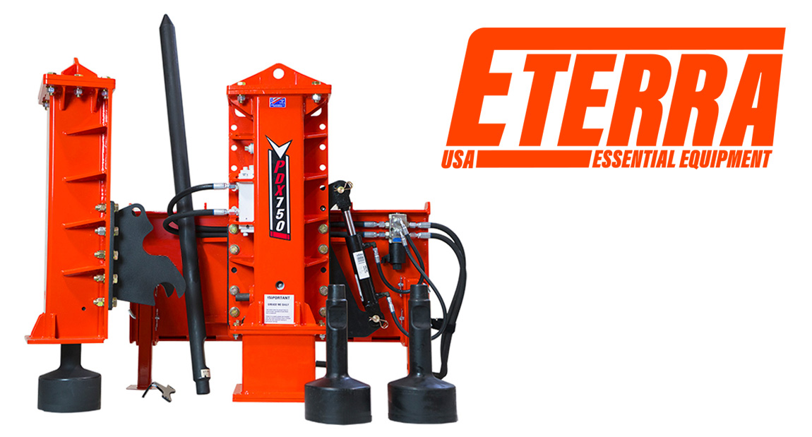 What's the Best Skid Steer Post Driver? Eterra has an Answer