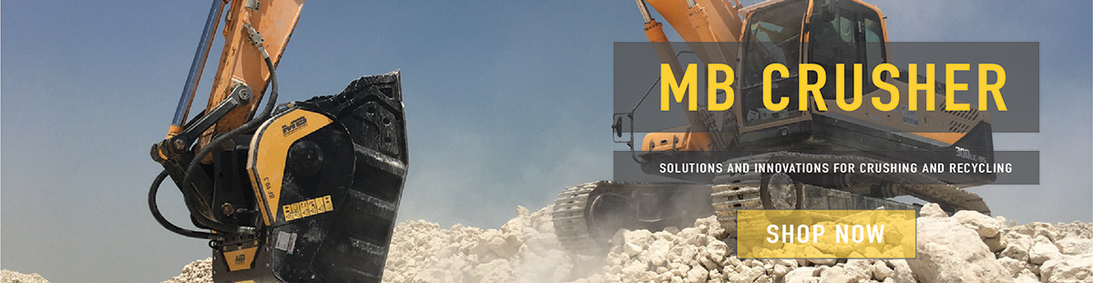 Material Crusher Buckets from MB available online now, call for price