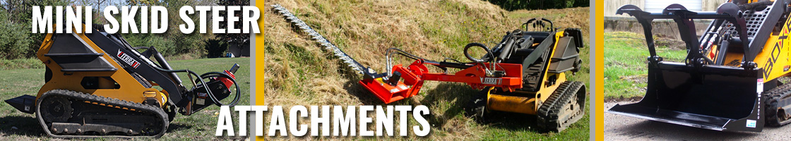 A wide selection of Mini Skid Steer Attachments for jobs of all type