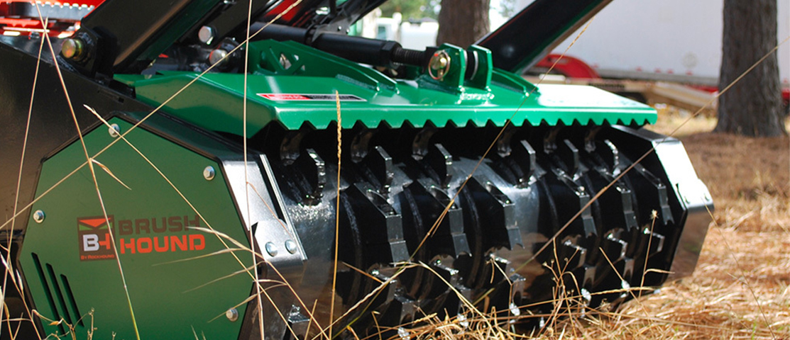 Check out a wide selection of mowing attachments and landscape attachments from Rockhound