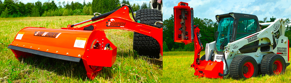 Eterra Scorpion Side-Work System with multiple mowing head options