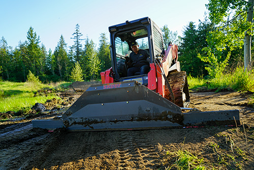 Skeer Push and Grade Skid Steer Attachments